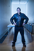 Canada-based New Zealand playwright David Geary photographed in the Adam Art Gallery, Victoria University of Wellington. David Geary graduated from Toi Whakaari with a Diploma in Professional Drama (Acting) in 1987.