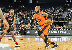 July 6, 2018 - Oakland, CA, U.S. - OAKLAND, CA - JULY 06: Drew Gooden (0) co-captain of 3's Company moves to the key during game 1 in week three of the BIG3 3-on-3 basketball league on Friday, July 6, 2018 at the Oracle Arena in Oakland, CA  (Photo by Douglas Stringer/Icon Sportswire) (Credit Image: © Douglas Stringer/Icon SMI via ZUMA Press)