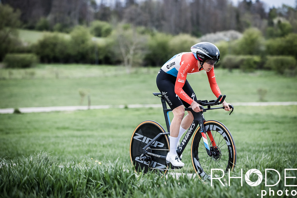Christine Majerus (LUX/SD Worx) riding on home soil <br /> <br /> Ceratizit Festival Elsy Jacobs (LUX) 2021<br /> UCI Women Elite 2.1<br /> Day 1 - prologue : Individual Time Trial (ITT) – Cessange (LUX) 2.2km <br /> <br /> ©RhodePhoto