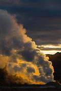 Sunrise at the Namaskard geothermal area, Iceland