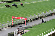 Racing with few spectators due to lockdown level 2 during Race 5, FastTrack Mufhasa Stakes 1300.<br /> Vodafone Derby Day at Ellerslie Race Course, Auckland on Sunday 7th March 2021 during lockdown level 2.<br /> Copyright photo: Alan Lee / www.photosport.nz