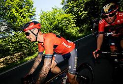 Grega Bole (SLO) of Bahrain - Merida and Domen Novak (SLO) of Bahrain - Merida during 2nd Stage of 26th Tour of Slovenia 2019 cycling race between Maribor and Celje (146,3 km), on June 20, 2019 in  Slovenia. Photo by Vid Ponikvar / Sportida