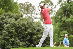 May 5, 2018 - Charlotte, NC, U.S. - CHARLOTTE, NC - MAY 05: Brooks Koepka tees off during the 3rd round of the Wells Fargo Championship on May 05, 2018 at Quail Hollow Club in Charlotte, NC. (Photo by William Howard/Icon Sportswire) (Credit Image: © William Howard/Icon SMI via ZUMA Press)