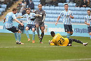 Coventry City Goalkeeper Reice Charles-Cook during the Sky Bet League 1 match between Coventry City and Bury at the Ricoh Arena, Coventry, England on 13 February 2016. Photo by Dennis Goodwin.