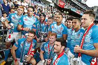 HONG KONG, HONG KONG : England were awarded the Bowl award against Hong Kong, in England's  42-7 win in the Bowl Final, at the Hong Kong Rugby Sevens, shown in Hong Kong on Sunday, 24 March, 2013.