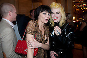 Pearl Lowe; Pam Hogg, Criterion Restaurant  celebrates its 135th anniversary. Piccadilly Circus. London. 2 February 2010