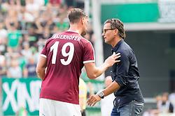 v.l. Stefan Maierhofer (SV Mattersburg), Trainer Gerald Baumgartner (SV Mattersburg)
