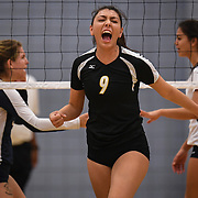 Golden West's Samantha Ureno celebrate after scoring against Irvine Valley during the match played in Irvine, California, Friday, Nov 4, 2016. Photo By: Bryan Woolston, Sports Shooter Academy