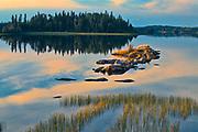 Sunset on White Lake<br />Flin Flon<br />Manitoba<br />Canada