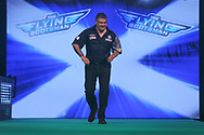 Gary Anderson during the PDC Unibet Premier League darts at Marshall Arena, Milton Keynes, United Kingdom on 27 May 2021.