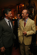 PETER SOROS AND SIMON SEBAG-MONTEFIORE, Plum Sykes, book launch party, Annabel's, Berkeley Square, London, W1,10 May 2006.  Matthew Williamson, Catherine Vautrin, Laudomia Pucci host party to celebrate 'The Debutante Divorcee'. ONE TIME USE ONLY - DO NOT ARCHIVE  © Copyright Photograph by Dafydd Jones 66 Stockwell Park Rd. London SW9 0DA Tel 020 7733 0108 www.dafjones.com