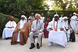 The Prince of Wales attends a meeting with Traditional Leaders at the High Commissioner's Residence in Nigeria, on day seven of his trip to west Africa with the Duchess of Cornwall.
