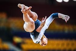 October 28, 2018 - Doha, Quatar - Elsabeth Black of Canada   during  Floor qualification at the Aspire Dome in Doha, Qatar, Artistic FIG Gymnastics World Championships on 28 of October 2018. (Credit Image: © Ulrik Pedersen/NurPhoto via ZUMA Press)