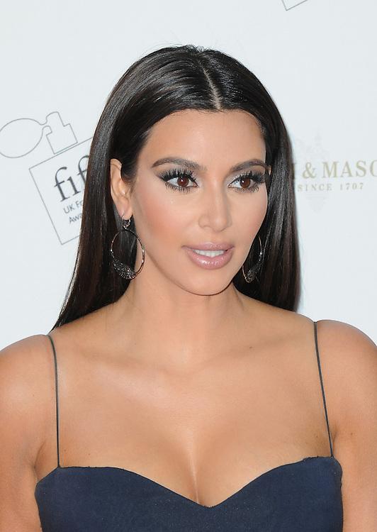 Kim Kardashian attends the FiFi UK Fragrance Awards 2012, London, UK. 17/05/2012 Anne-Marie Michel/CatchlightMedia