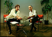 "Sade and Tony Hadley Interviews.  P92..1984.21.08.1984..08.21.1984..21st August 1984..As part of his interview sessions for ""Video File"" for R.T.E., Marty Whelan interviewed international music stars. The interviews were held in the R.T.E.,studios and at various hotels throughout the city...Marty Whelan is pictured with Sade in the R.T.E.,studios in Donnybrook for her interview for ""Video Files""."