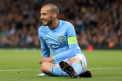 17th October 2017 - UEFA Champions League - Group F - Manchester City v Napoli - David Silva of Man City looks dejected - Photo: Simon Stacpoole / Offside.
