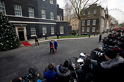 © London News Pictures. 18/12/2012. London, UK. HRH QUEEN ELIZABETH II  Leaving 10 Downing street with Foreign Minister WILLIAM HAGUE on December 18, 2012 after attending  the government cabinet meeting as an observer, making her the first monarch to attend the briefing since Queen Victoria.  Photo credit: Ben Cawthra/LNP.