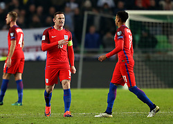 Wayne Rooney of England speaks to Jesse Lingard of England - Mandatory by-line: Robbie Stephenson/JMP - 11/10/2016 - FOOTBALL - RSC Stozice - Ljubljana, England - Slovenia v England - World Cup European Qualifier