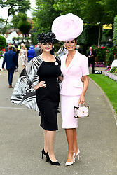 Isabell Kristensen (right) and daughter Nichola Kristensen during day one of Royal Ascot at Ascot Racecourse