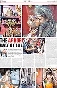 Lucknow tribune Feb 2013, article on the Aghori Sadus.