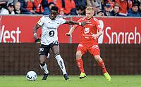 Fotball , 26. mai 2019 , Eliteserien Brann - Rosenborg 0-1<br /> David Akintola , , RBK<br /> Taijo Teniste , Brann