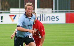 FODBOLD: Mikkel Vindahl Nielsen (Helsingør) under kampen i Landspokalturneringen, 2. runde, mellem Elite 3000 Helsingør og B.93 den 23. august 2006 på Helsingør Stadion. Foto: Claus Birch