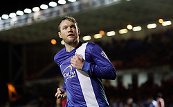 Peterborough United's Grant McCann celebrates - Photo mandatory by-line: Joe Dent/JMP - Tel: Mobile: 07966 386802 08/10/2013 - SPORT - FOOTBALL - London Road Stadium - Peterborough - Peterborough United V Brentford - Johnstone's Paint Trophy