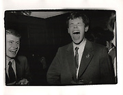 Jonathan Shepherd and Roland Scarffe. Bloody Assizes drinks. Christchurch college. Oxford. 1980
