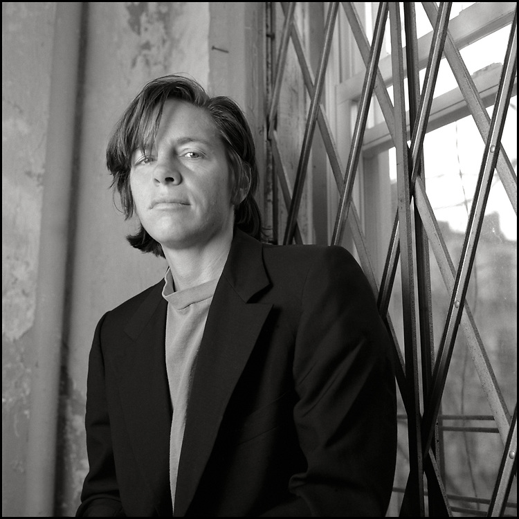 Eileen Myles photographed at home in New York City in April of 1991.