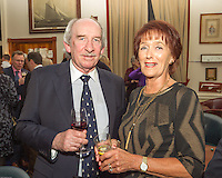 (l to r) Dermot Clarke and Carmel O'Brien at the Classic Dragon Reunion in the Royal St George Yacht Club (Dún Laoghaire) where a large number of current and classic Dragon sailors gathered to celebrate the long (and continued) success of the class.
