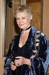 Dame Judi Dench during a press reception at the Washington Hotel in central London, ahead of the premiere of 'Iris' at the Curzon Mayfair. The film follows the story of Booker Prize-winning novelist and philosopher Iris Murdoch who died in 1999.  * (played by Kate Winslet and Judi Dench).