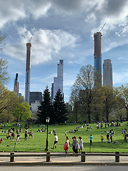 The changing view of New York City from Central Park looking South