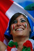 Photo: Glyn Thomas.<br />Italy v Ukraine. Quarter Finals, FIFA World Cup 2006. 30/06/2006.<br /> A female Italy fan.