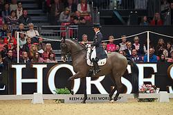 Reynolds Judy, (IRL), Vancouver K<br /> Grand Prix Freestyle <br /> Reem Acra FEI World Cup Dressage <br /> London International Horse Show<br /> © Hippo Foto - Jon Stroud