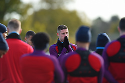 November 13, 2017 - Enfield, Greater London, United Kingdom - England's Gary Cahill listens to England Manager Gareth Southgate during a England training session ahead of the International Friendly match against Brazil at Tottenham Hotspur Training centre on 13 Nov , 2017 in Enfield, England. (Credit Image: © Kieran Galvin/NurPhoto via ZUMA Press)