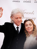 Bob Geldof  and Jeanne Marine at the IFTA Film & Drama Awards (The Irish Film & Television Academy) at the Mansion House in Dublin, Ireland, Saturday 9th April 2016. Photographer: Doreen Kennedy