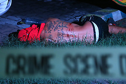 October 8, 2016 - Pasay, Philippines - (EDITORS NOTE: Image depicts death.) Wilfredo Padilla, 43 yrs. old allegedly drug user and drug dealer is the victims of summary executions of un-identified triggerman in Brgy. 7. (Credit Image: © Gregorio B. Dantes Jr/Pacific Press via ZUMA Wire)