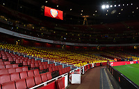 Football - 2018 / 2019 Premier League - Arsenal vs. Cardiff City<br /> <br /> A general view of The Emirates, showing yellow cards on display for the Cardiff fans as a show of support for Emiliano Sala, at The Emirates.<br /> <br /> COLORSPORT/ASHLEY WESTERN