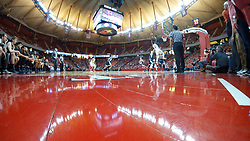 10 January 2016:   during a College NIT (National Invitational Tournament) mens basketball game between the UC Irvine Anteaters and Illinois State Redbirds in  Redbird Arena, Normal IL