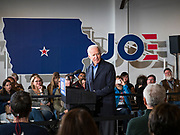 23 NOVEMBER 2019 - DES MOINES, IOWA: Former Vice President JOE BIDEN speaks at a campaign event in Des Moines Saturday. Vice President Biden announced that Tom Vilsack, the former Democratic governor of Iowa, endorsed him. Biden and Vilsack appeared with their wives at an event in Des Moines. Iowa hosts the first presidential selection event of the 2020 election cycle. The Iowa caucuses are on February 3, 2020.          PHOTO BY JACK KURTZ