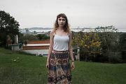 Carolina, residente de la ciudad de Guaíba. Ella cree que tiene enfermedades de los pulmones porque creció en la ciudad.