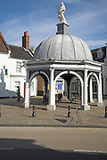 Buttercross, in the market square, Bungay, Suffolk, England. Bungay's famous Buttercross was rebuilt after the Great Fire of Bungay in 1688. It Is situated in the Market Place.