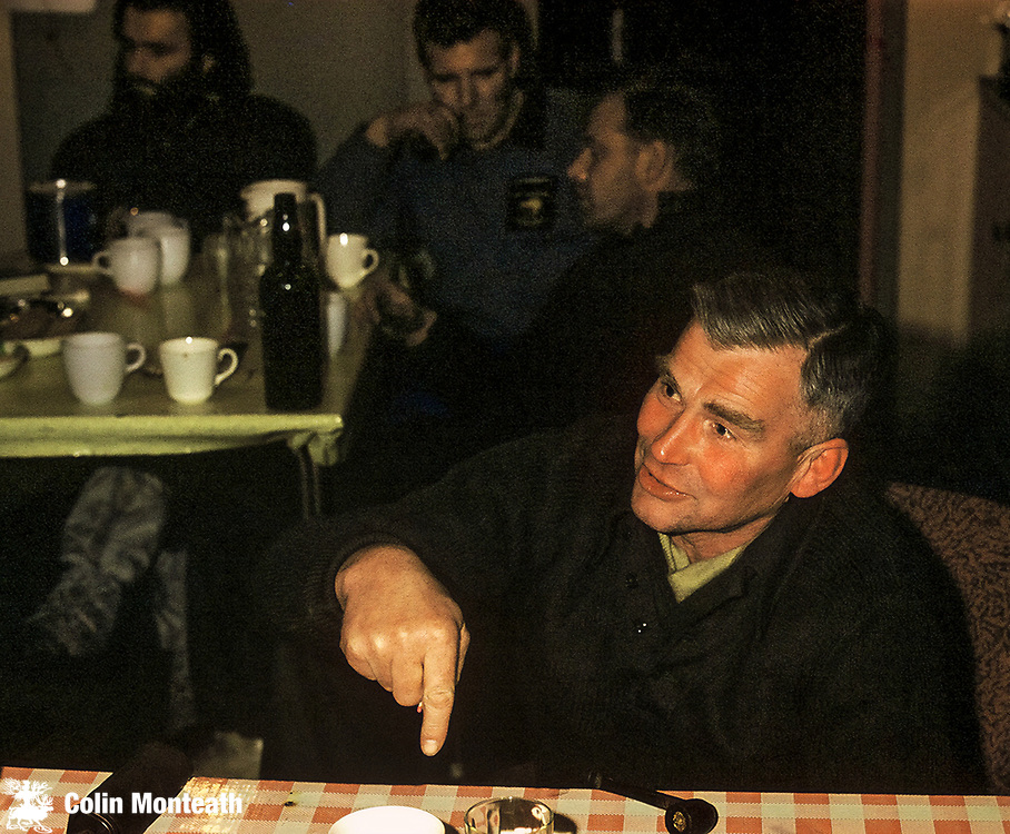 Vivian (soon to be knighted) Fuchs at Scott Base. Nov 1960? Photo: Bob Cranfield
