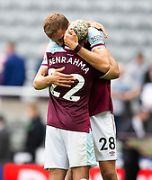 Football - 2021 / 2022 Premier League - Newcastle United vs West Ham United - St James Park - Sunday 15th August 2021<br /> <br /> Tomas Soucek of West Ham and Said Benrahma of West Ham at full time<br /> <br /> Credit: COLORSPORT/Bruce White