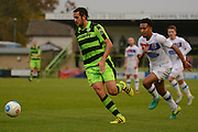 Forest Green Rovers midfielder Darren Carter (12) on the attack during the Vanarama National League match between Forest Green Rovers and Dagenham and Redbridge at the New Lawn, Forest Green, United Kingdom on 29 October 2016. Photo by Alan Franklin.