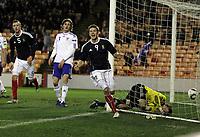 Football - International Friendly - Scotland vs Faroe Islands<br /> Jamie Mackie celebrates scoring for Scotland during the International Friendly between Scotland and Faroe Islands at Pittodrie Stadium.