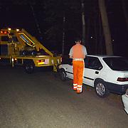 Zoekactie inbrekers Nieuw Blaricummerweg Huizen, auto weggespeelt fa. Dorresteijn
