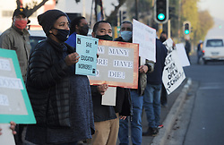 South Africa - Cape Town - 1 July 2020 - The UDF staged a picket in Klipfontein Road in Athlone today in support of the teachers that feel they have not been consulted before asked to return to schools at this stage of the lockdown. Photographer: Armand Hough/African News Agency(ANA)