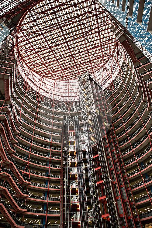 Atrium of the James R. Thompson Center in Chicago, IL.
