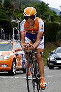 France, Talloire, 23 July 2009: Grischa Niermann (Ger) Rabobank on the Côte de Bluffy during Stage 18 - a 40.5 km Annecy to Annecy individual time trial. Photo by Peter Horrell / http://peterhorrell.com .